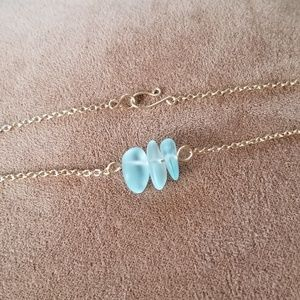 Seaglass and Goldtone Necklace